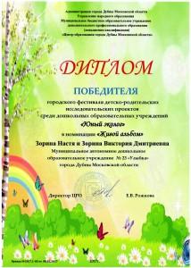 Зорина Настя 1 место