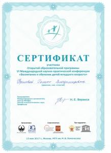 Фролова сертификат